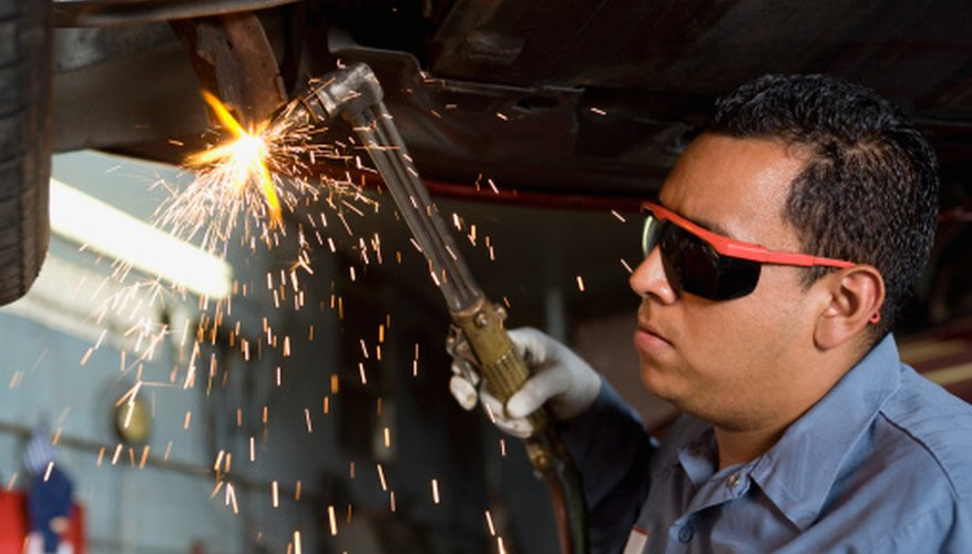 Welders help pipes and other metal pieces stay together.