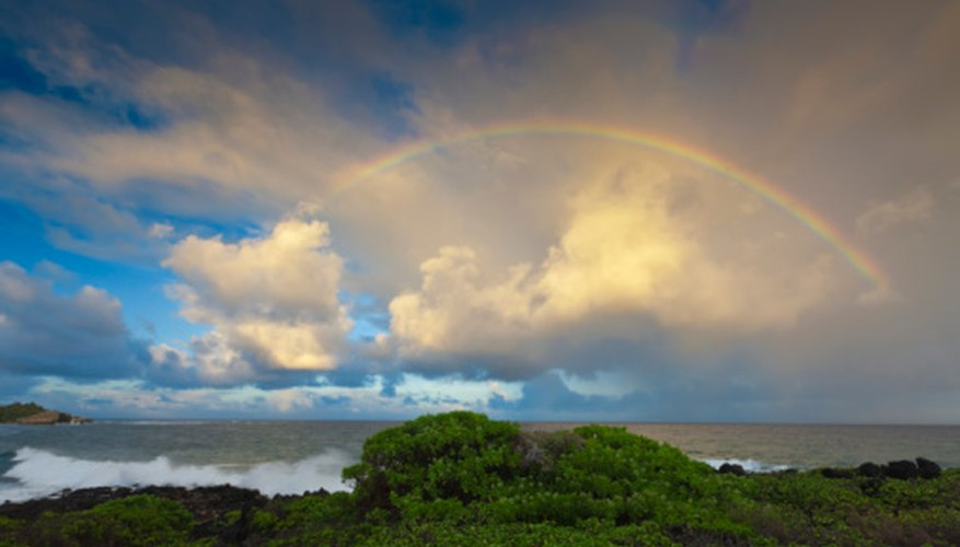 Weather is diverse and unpredictable, as strong storms are often followed by rainbows and sunshine.