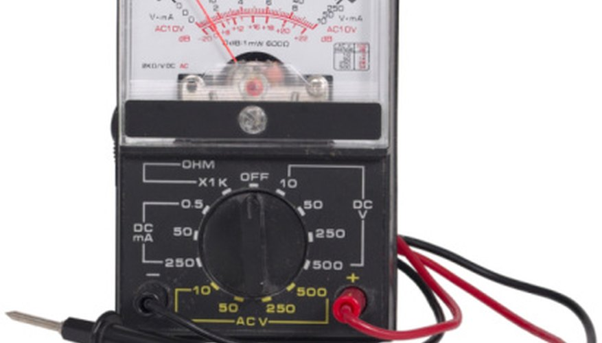 Analog multimeters measure amps, volts or ohms.