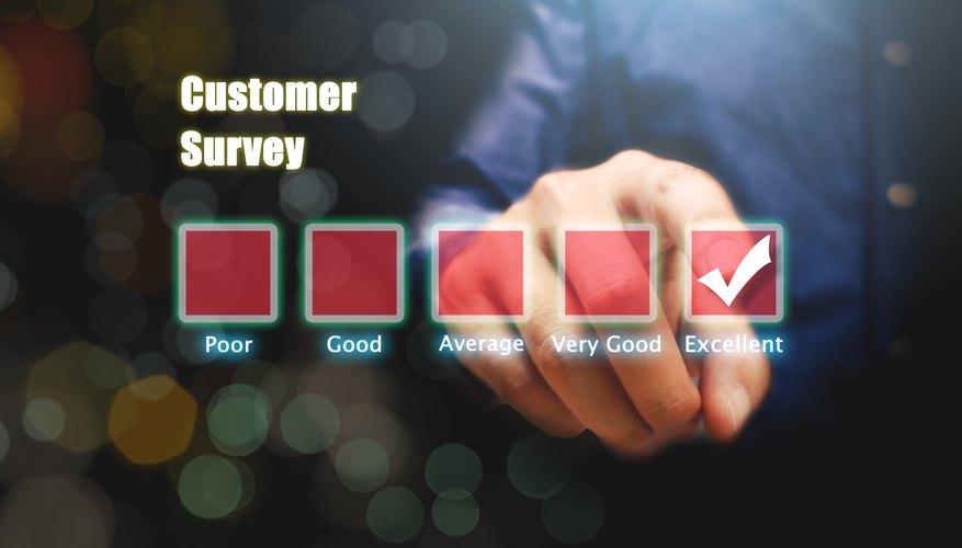 Digital Composite Image Of Man Filling Customer Survey