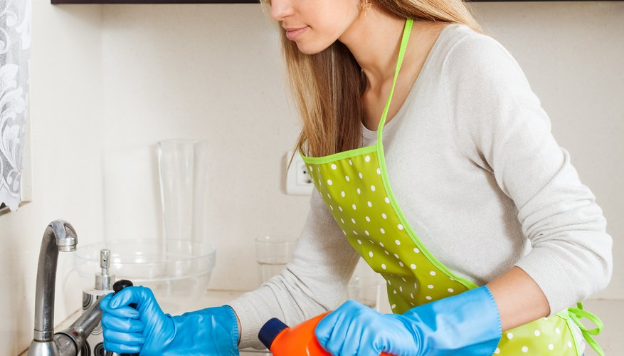 You can safely pour most bottles of hydrogen peroxide down the drain, and it may even clean the sink in the process.