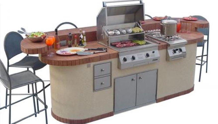 A fine BBQ grill island