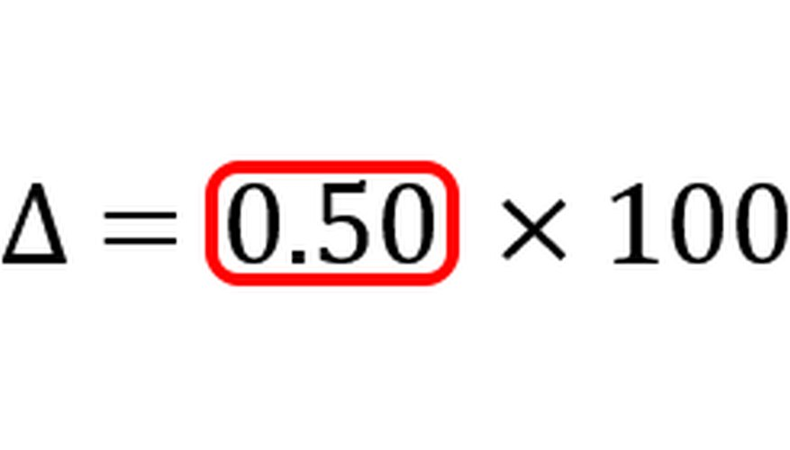 Dividing the numerator by the denominator produces the rate of change.