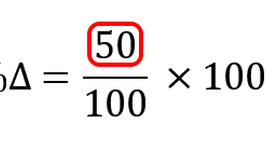 Subtracting the numerator values calculates the absolute change.