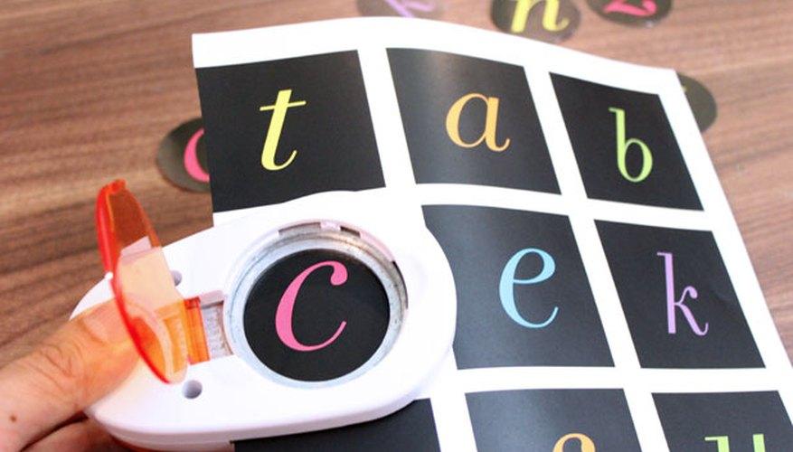 Recorta las letras del alfabeto.