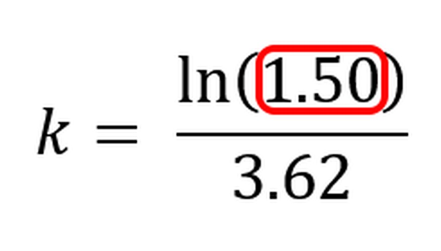 Dividing the numerator's future and initial values calculates the growth factor.