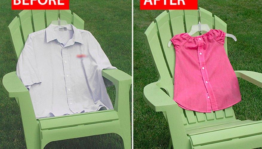 Convierte las camisas de hombre que ya no se usan en vestidos.
