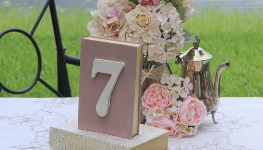 Un adorno vintage para una boda campestre y chic.