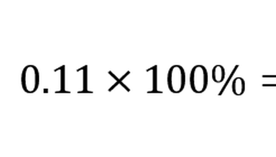 Multiplying by 100 converts the growth rate into a percentage.