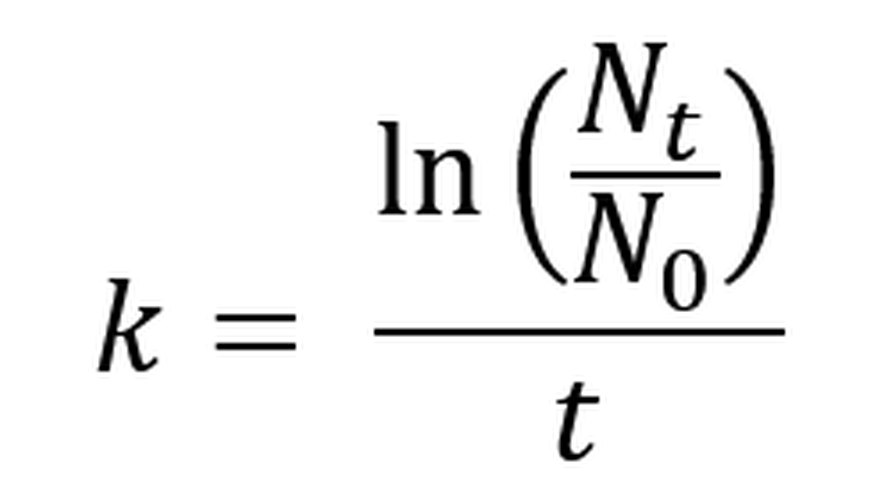 The continuous growth rate formula