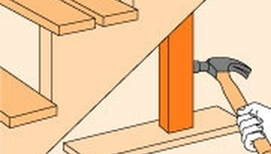 Carefully Remove The Treads Above The Damaged Part Of The Stringer. Make A  Straight Horizontal Cut With A Handsaw, Then A Vertical Cut (see A), ...