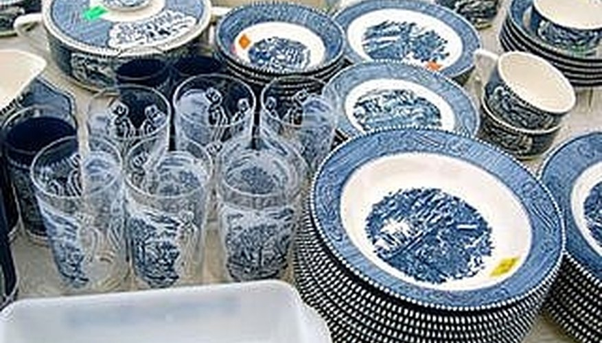 Blue is the most common color for Currier & Ives dishware