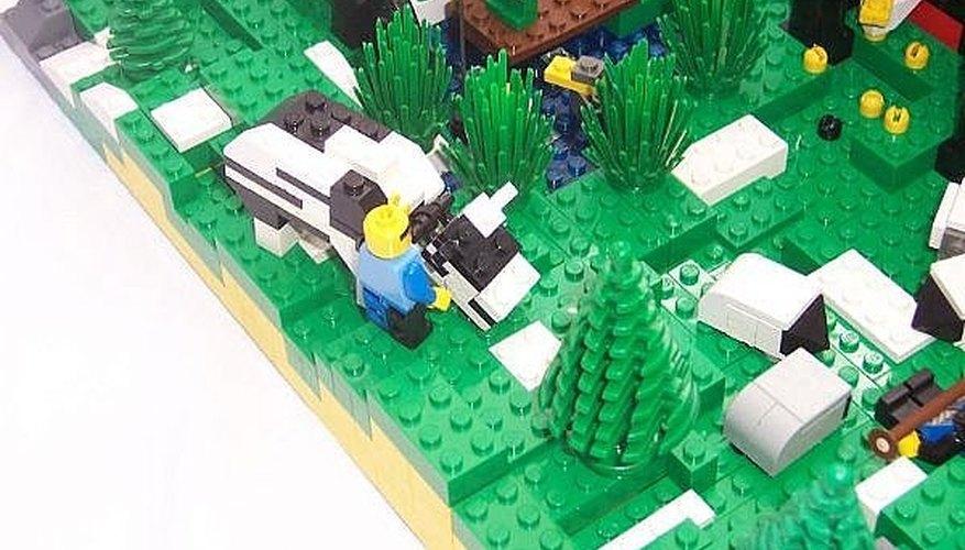 Lego castle landscaping