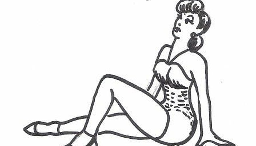 Beautiful naked pinup girls sketch