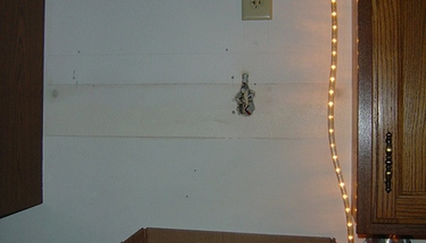 Install a wall socket.