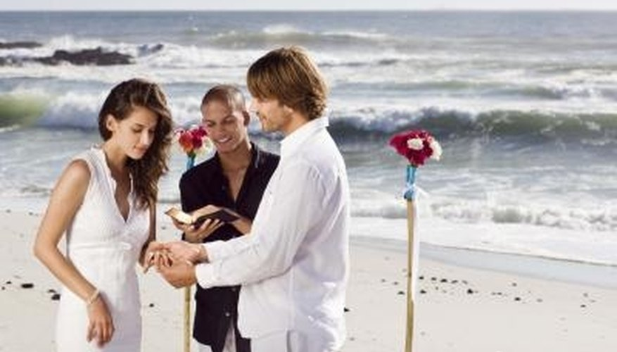 Decorating adds beauty and order to your beach wedding.