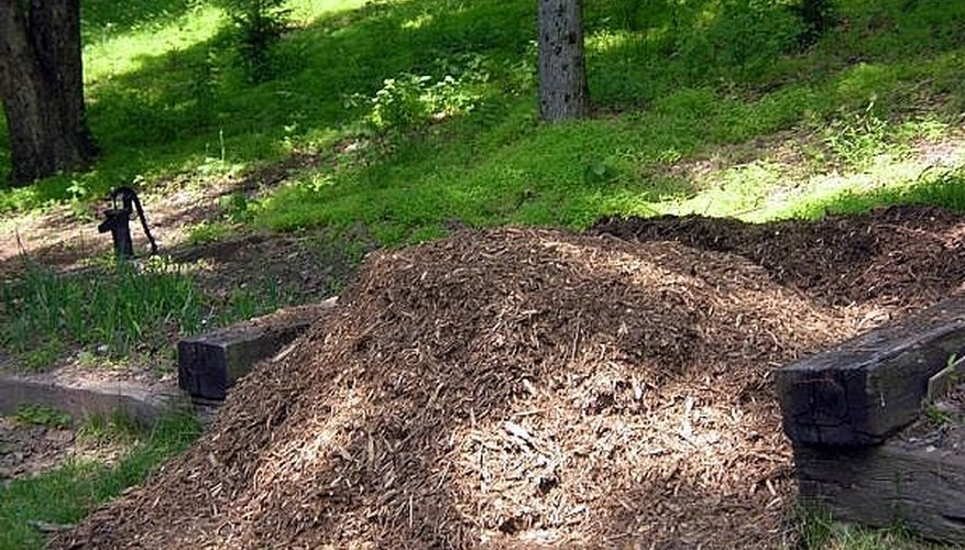 A pile of mulch obtained from the local recycling center for free...