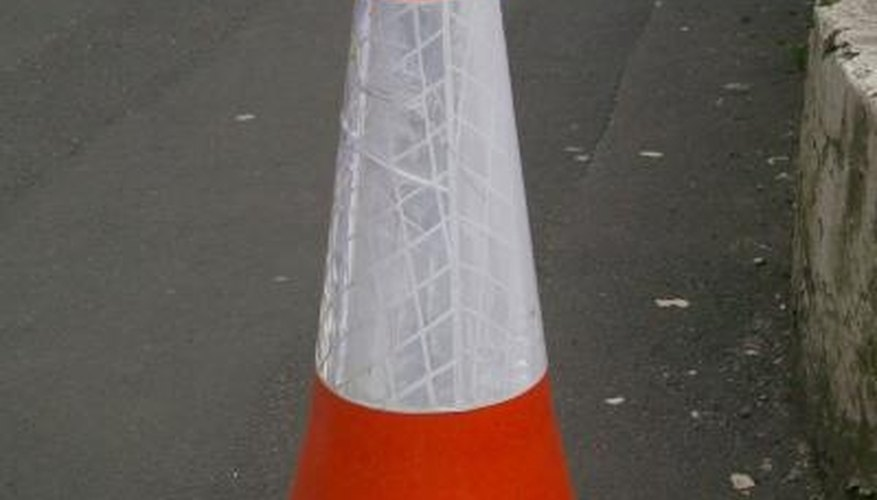 Traffic cones are used by state and local government entities and construction companies