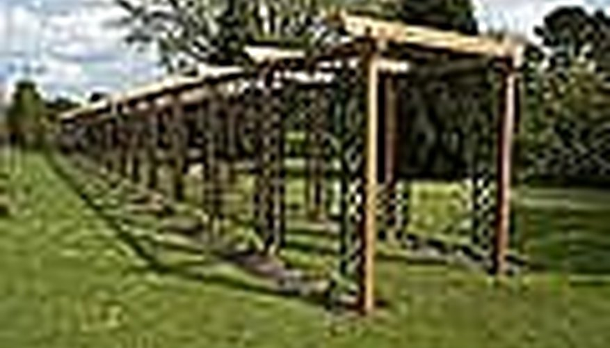 This is a basic pergola design made of wood