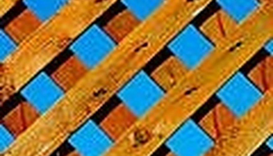 Lattice can be made of wood or vinyl.