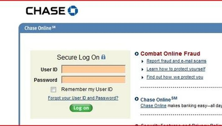chase bank online credit card account