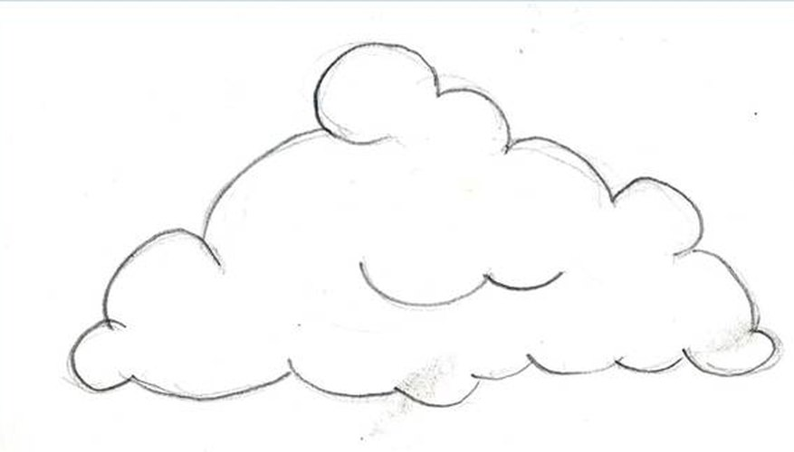Line Drawing Clouds : How to draw clouds our pastimes