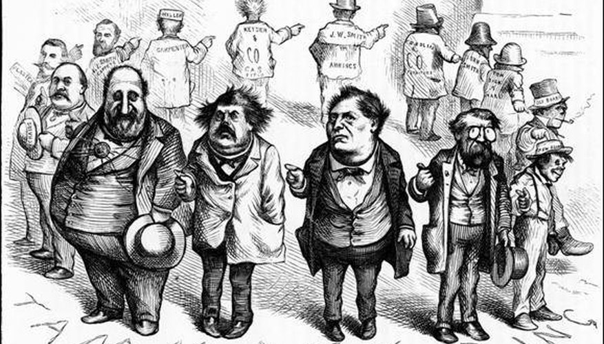 An example of political cartooning from the 19th century master, Thomas Nast.