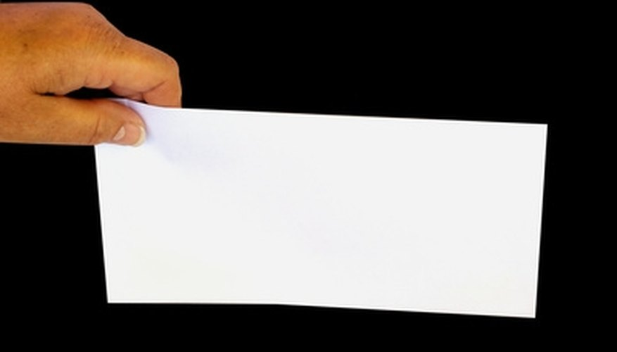 A business envelope looks professional when the address is computer printed.