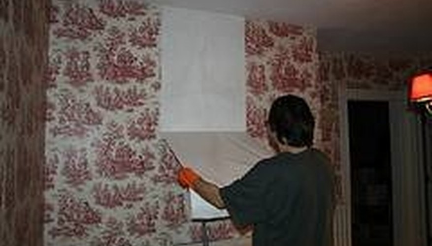 Some wallpaper can be peeled from the wall.