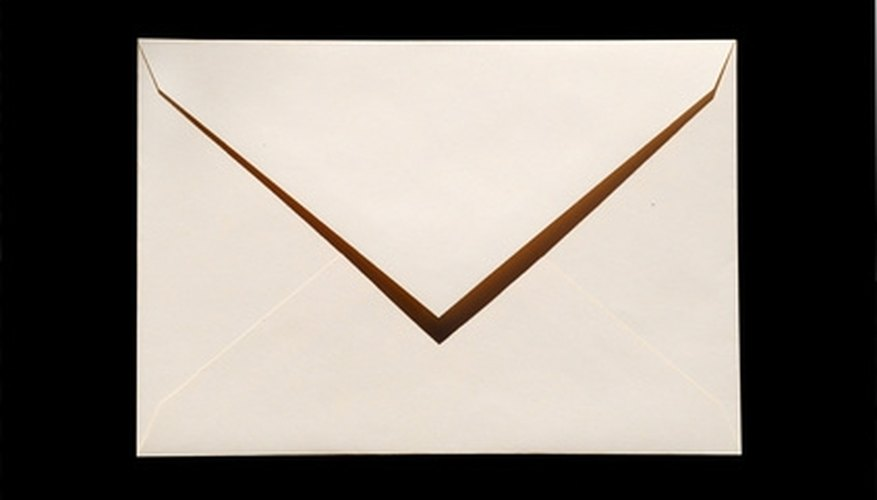 It's important to write a mailing address on an envelope in the format approved by the U.S. Postal Service.