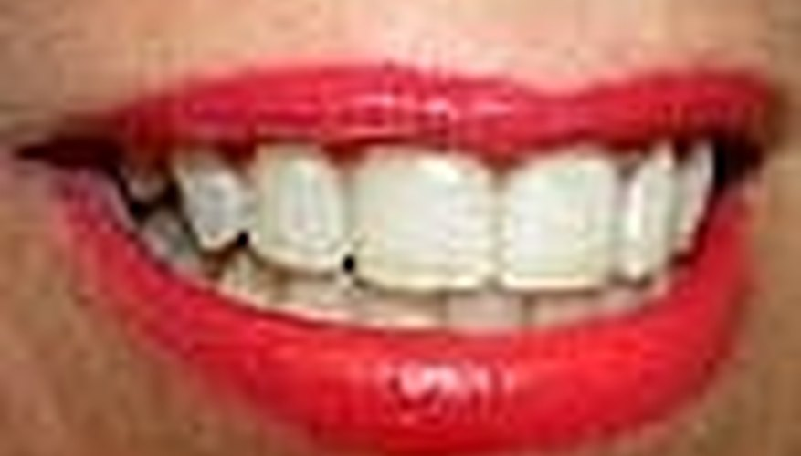 White teeth smile!
