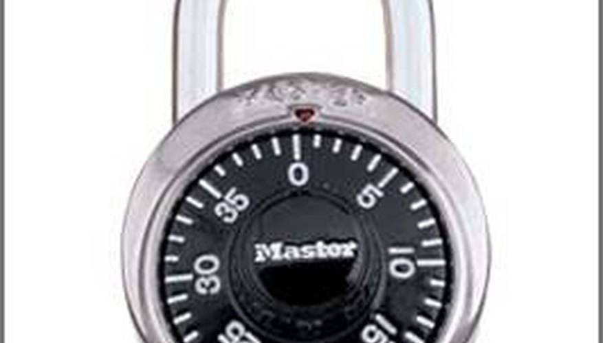 How To Change A Combination Dial Lock Bizfluent