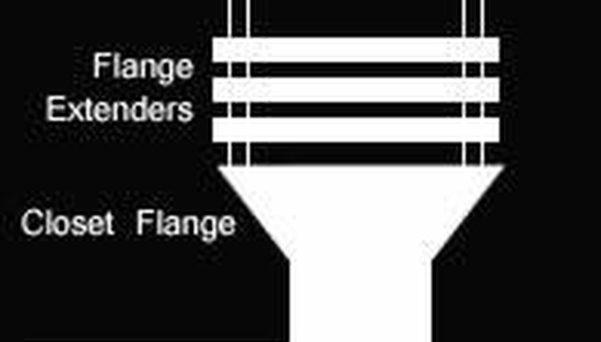 Flange extenders are placed on top of the closet flange to achieve the appropriate height.