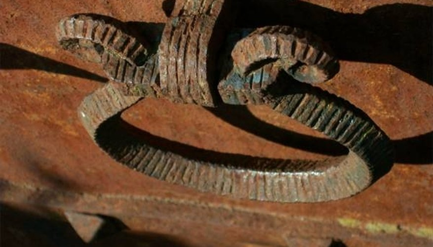 Iron oxidizes and creates rust. Coming into contact with rust means difficult stains.