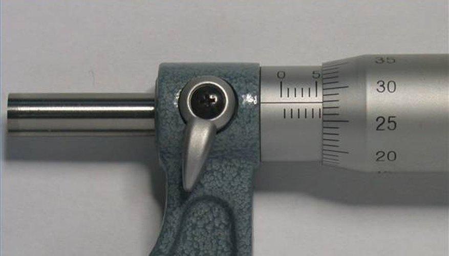 Screw gauge showing 5.78 mm