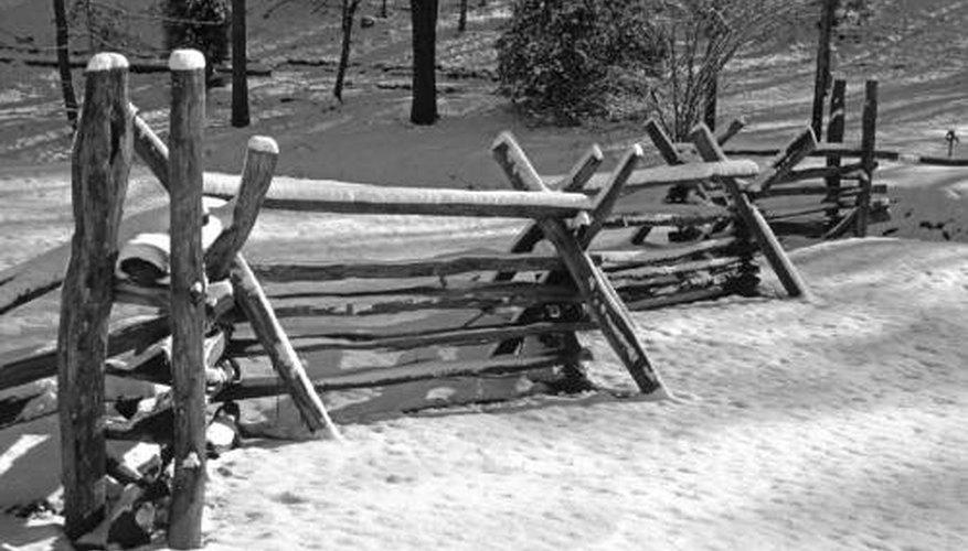 Old split rail fencing