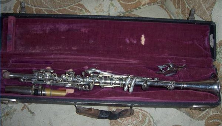 Silver-plated Three Star metal clarinet.