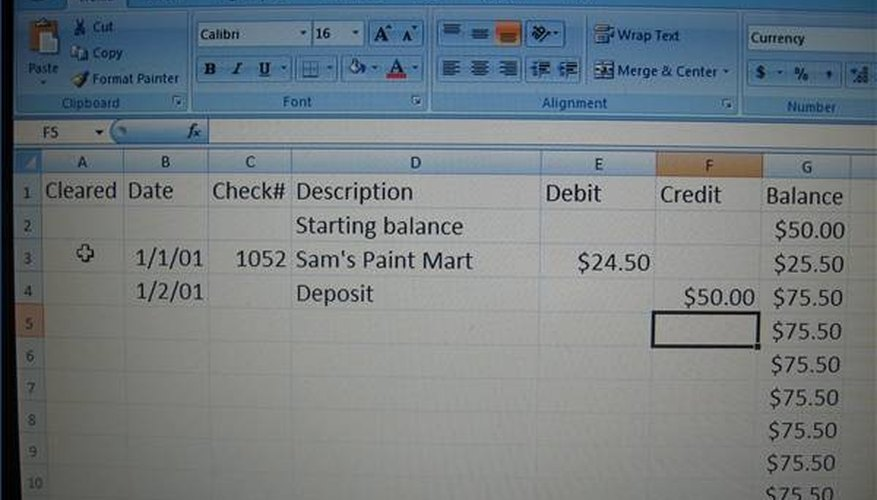 How To Create A Check Register In Excel Pocket Sense