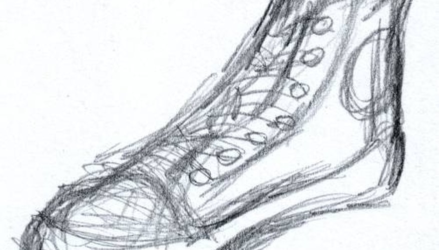 converse shoes sketch