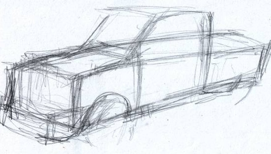 Rouch sketch of truck