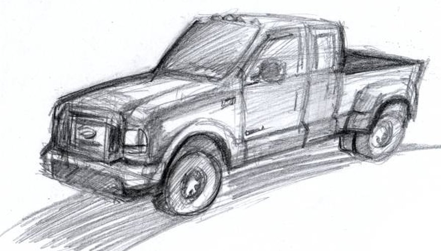 Drawing of truck