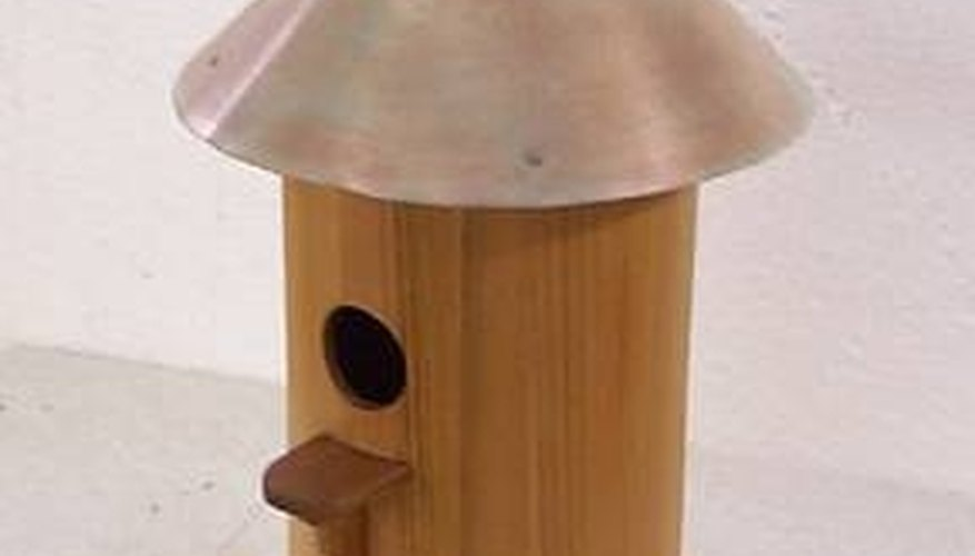 Copper Round Roofed Birdhouse
