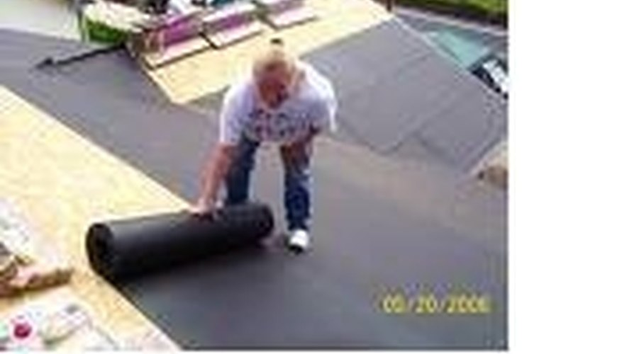 Cover The Entire Roof By Stapling Down Tar Paper.