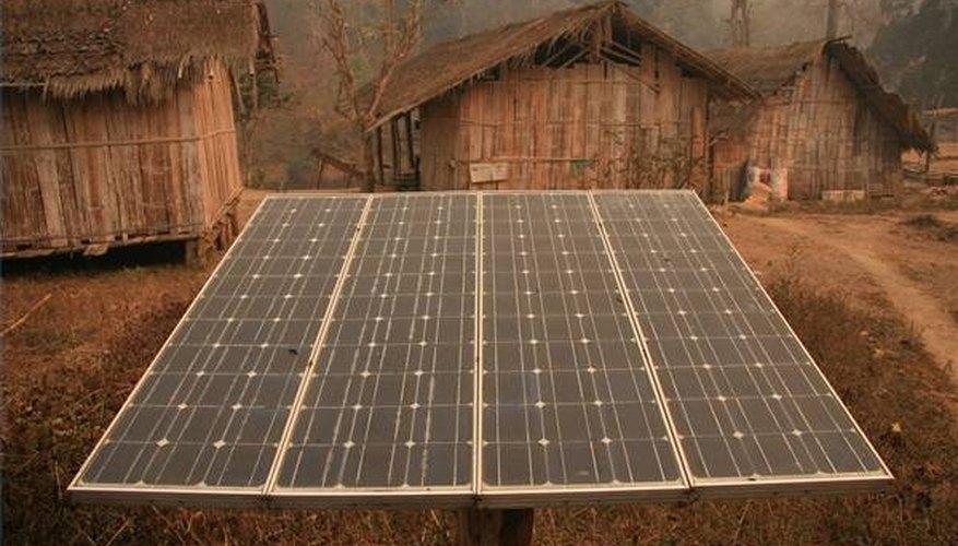 Solar Powar Use in Thailand Tribal village