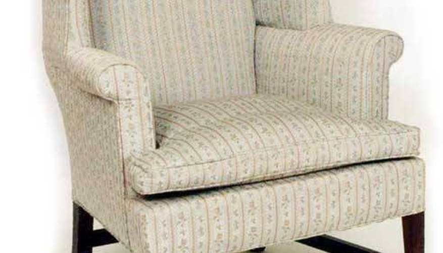 Designed in New England, this wing chair is circa 1790.