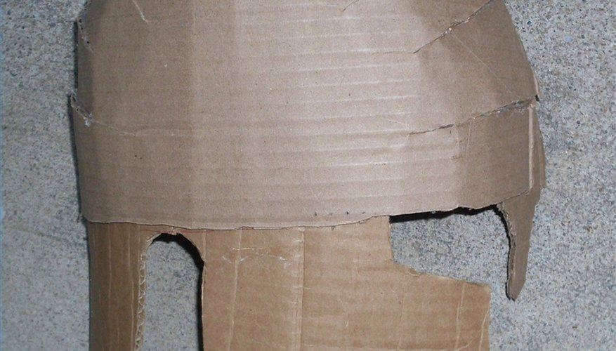 Layered cardboard, external view