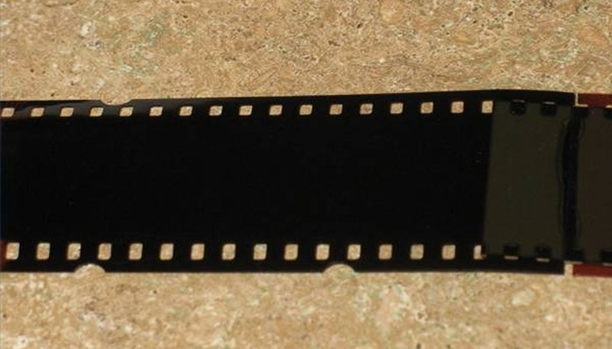 A piece of 35MM camera film