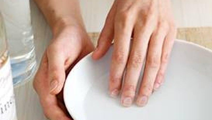 Soak callused finger