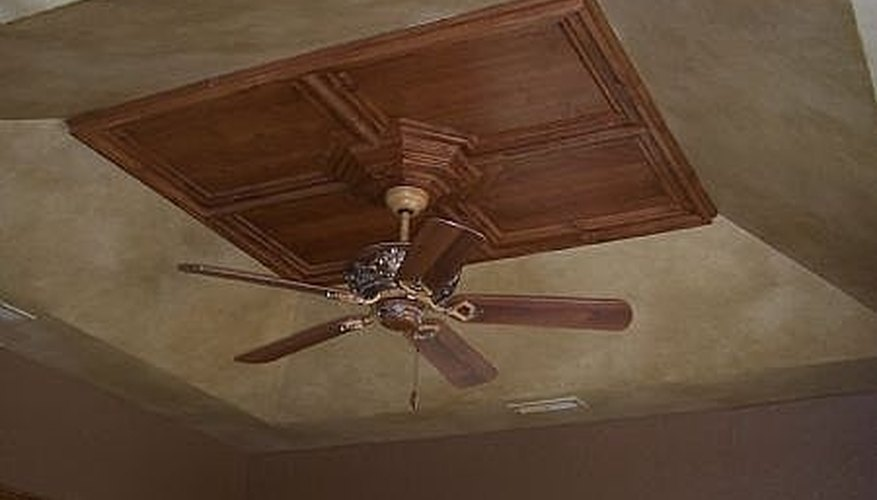 Beige painted ceiling