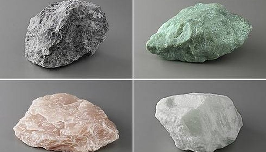 Most rough gemstones look just like any other rocks.